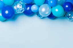 Blue Balloon Garland  image 4