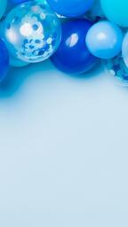 Blue Balloon Garland  image 5