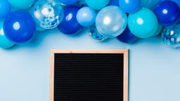 Letter Board with Blue Balloon Garland  image 3