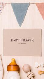 Baby Shower Invite with Baby Items  image 3