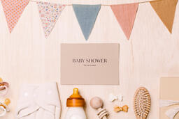 Baby Shower Invite with Baby Items  image 5