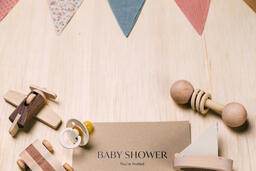 Baby Shower Invitation with Wooden Toys  image 3