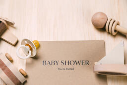 Baby Shower Invitation with Wooden Toys  image 5