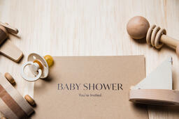 Baby Shower Invitation with Wooden Toys  image 4