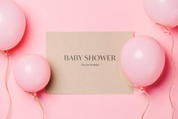 Girl Baby Shower Invitation  image 1