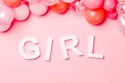 GIRL with Pink Confetti  image 1