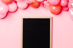 Letter Board with Pink Balloon Garland  image 3