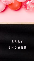 Baby Shower Letter Board with Pink Balloon Garland  image 3
