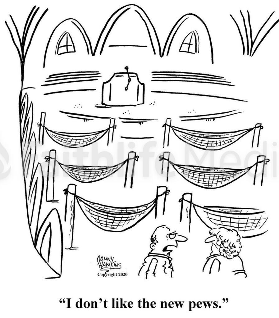 Hammocks in Church large preview