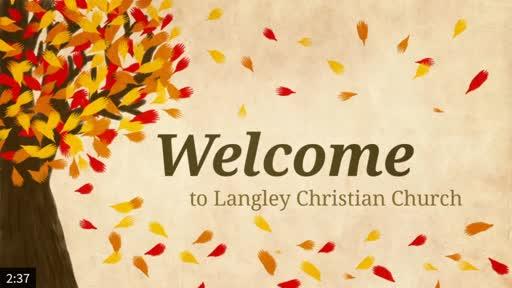 Sunday Worship Service Oct. 18, 2020