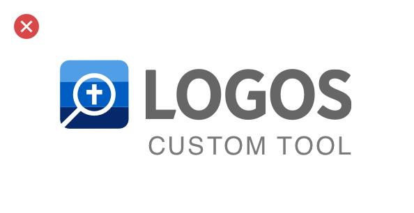 A bad example: adding a custom tagline to the Logos logo