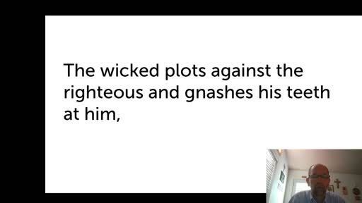 Fri.  Oct. 23,  '20 1st PPT Psalm 37