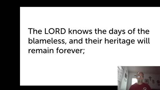 Fri.  Oct. 23,  '20 2nd PPT Psalm 37