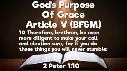 God's Purpose Of Grace