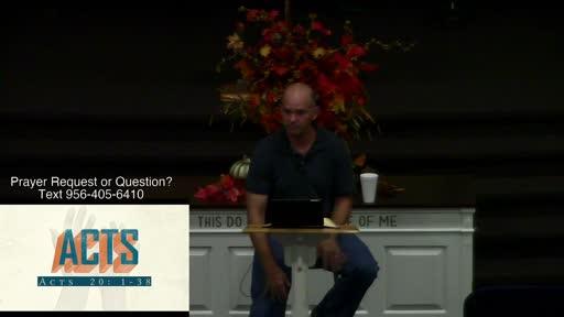 Acts 20:1-38 Dr. Benjamin Karner