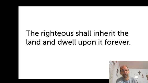 Sat.  Oct. 24,  '20 2nd PPT Psalm 37