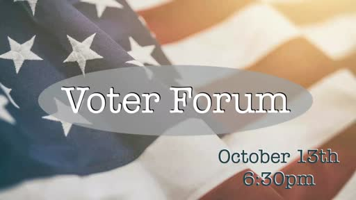 Voter Forum-10/13/20