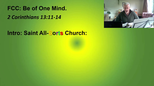 Be of one mind