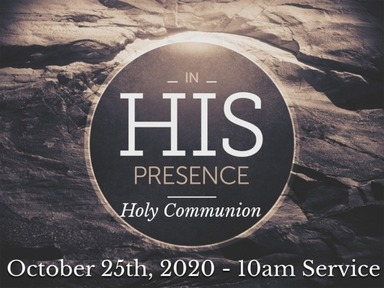 Sunday, October 25th 10am IN PERSON SERVICE