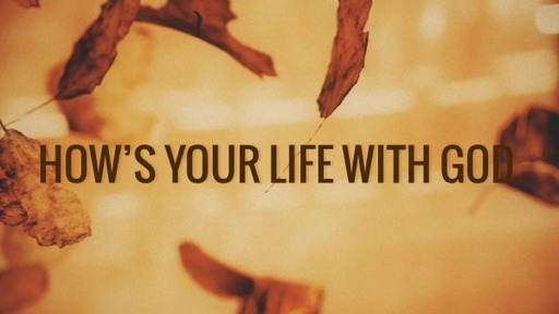 How's your life with God.
