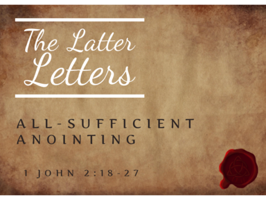 All-Sufficient Anointing