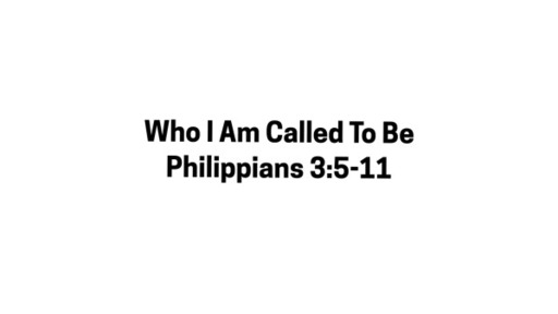 Who I Am Called To Be-October 25, 2020