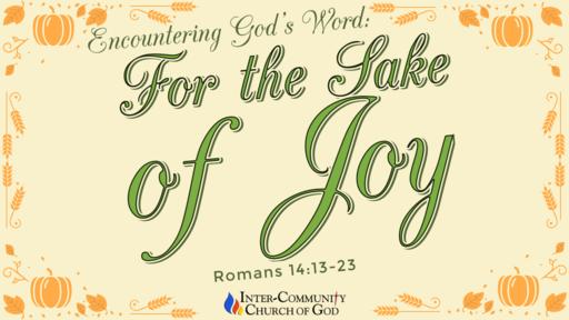 For the Sake of Joy