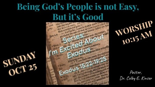 Being God's People is not Easy, But It's Good