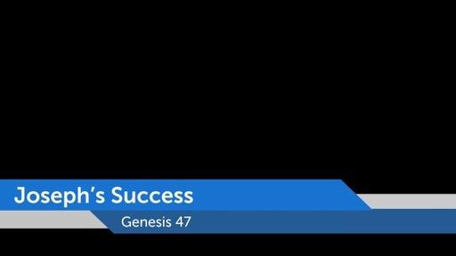 Joseph's Success