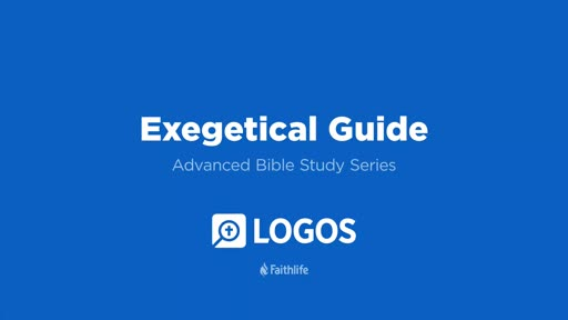 6. Exegetical Guide