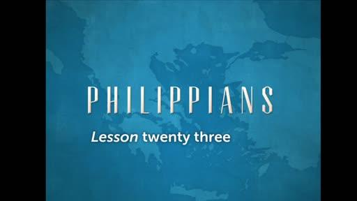 Philippians Lesson 23