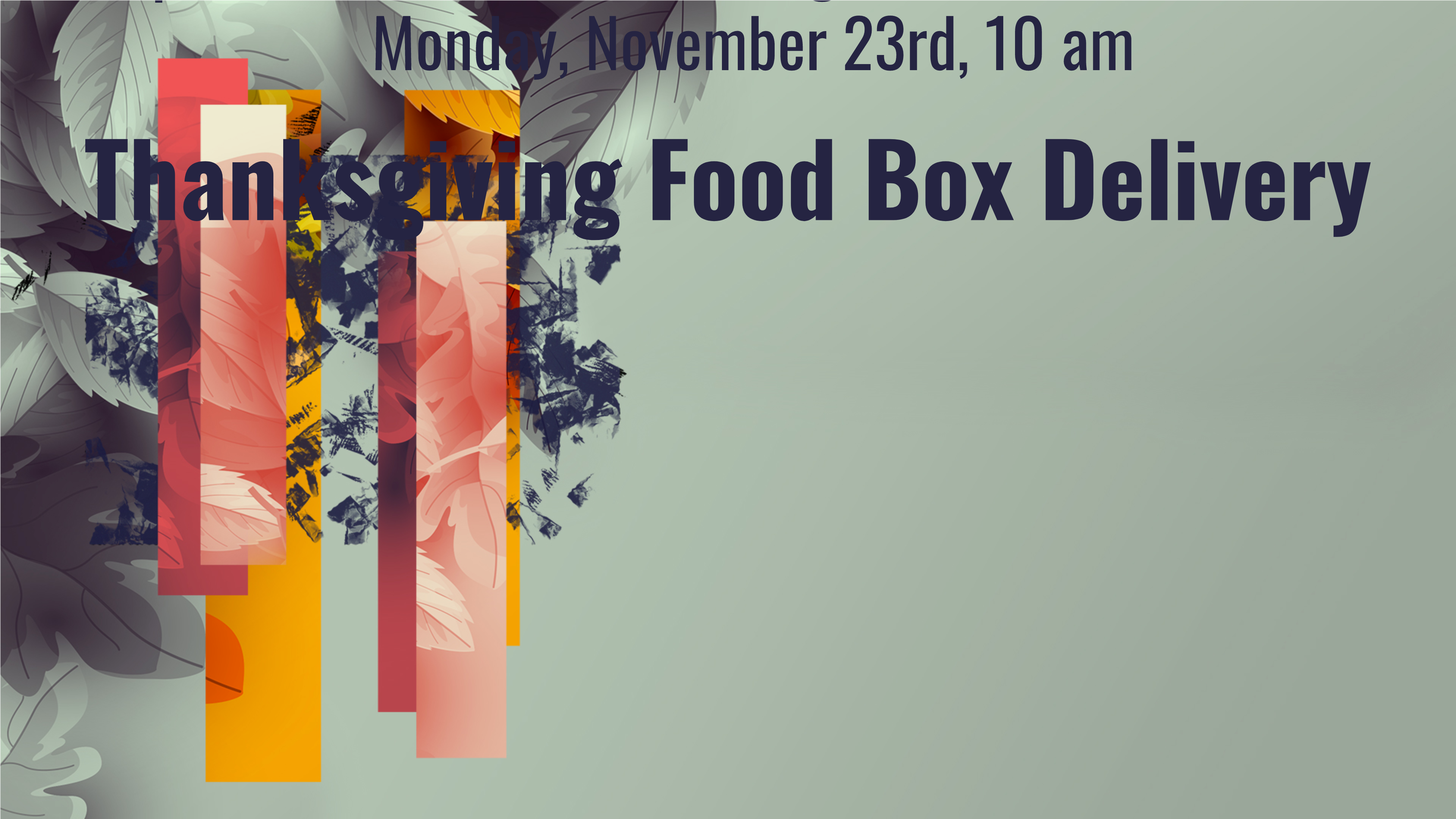 Thanksgiving Food Box Delivery