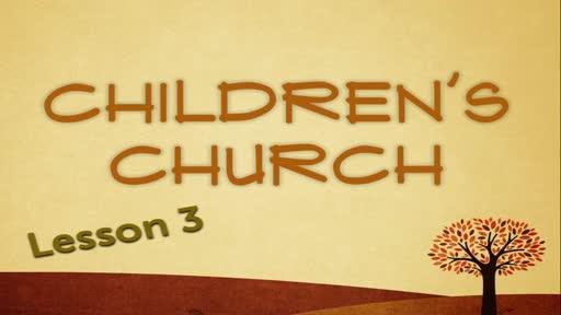 Children Church - Genesis Lesson 3