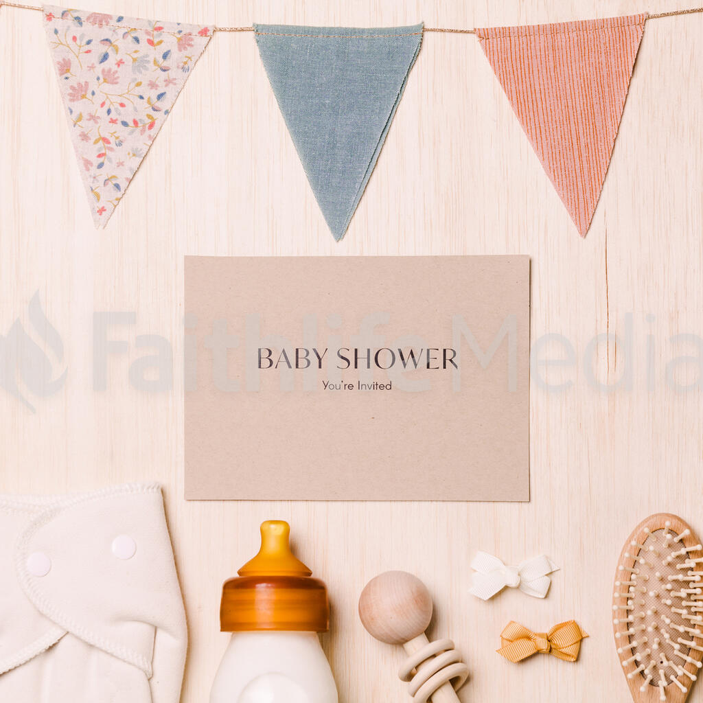 Baby Shower Invite with Baby Items large preview