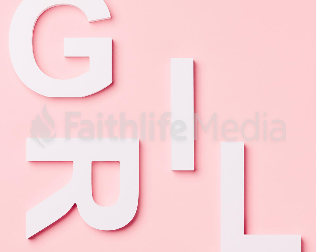 GIRL on Pink Background with Wooden Toys large preview