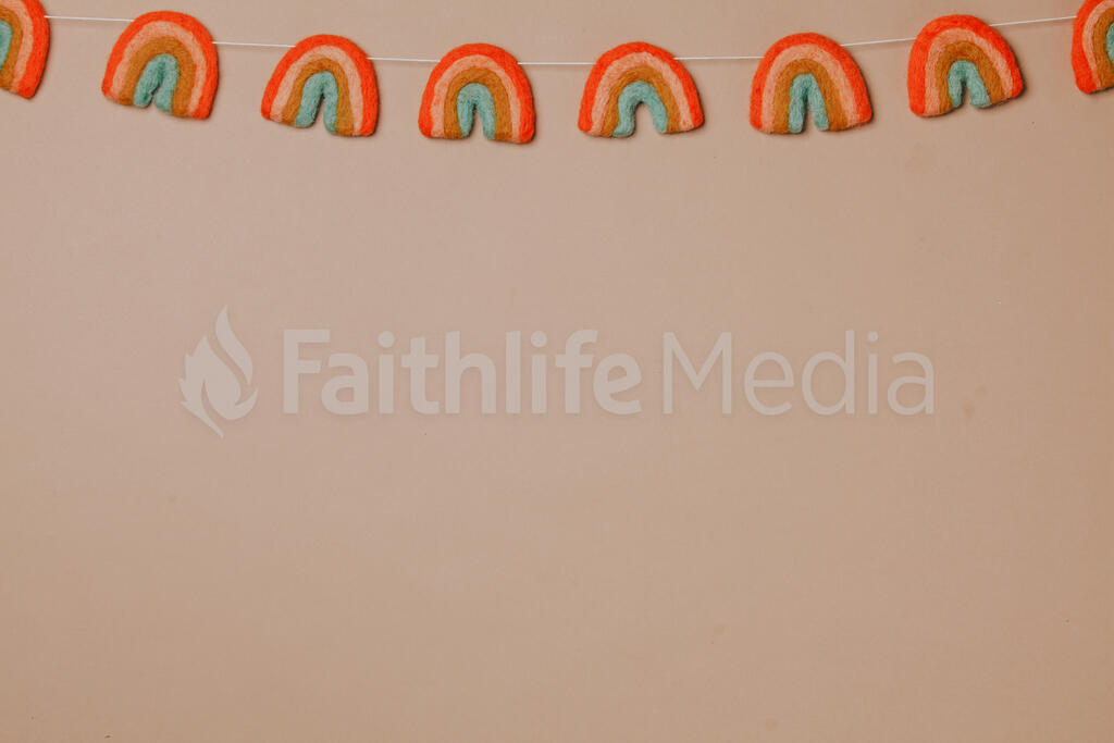 Felt Rainbow Garland large preview
