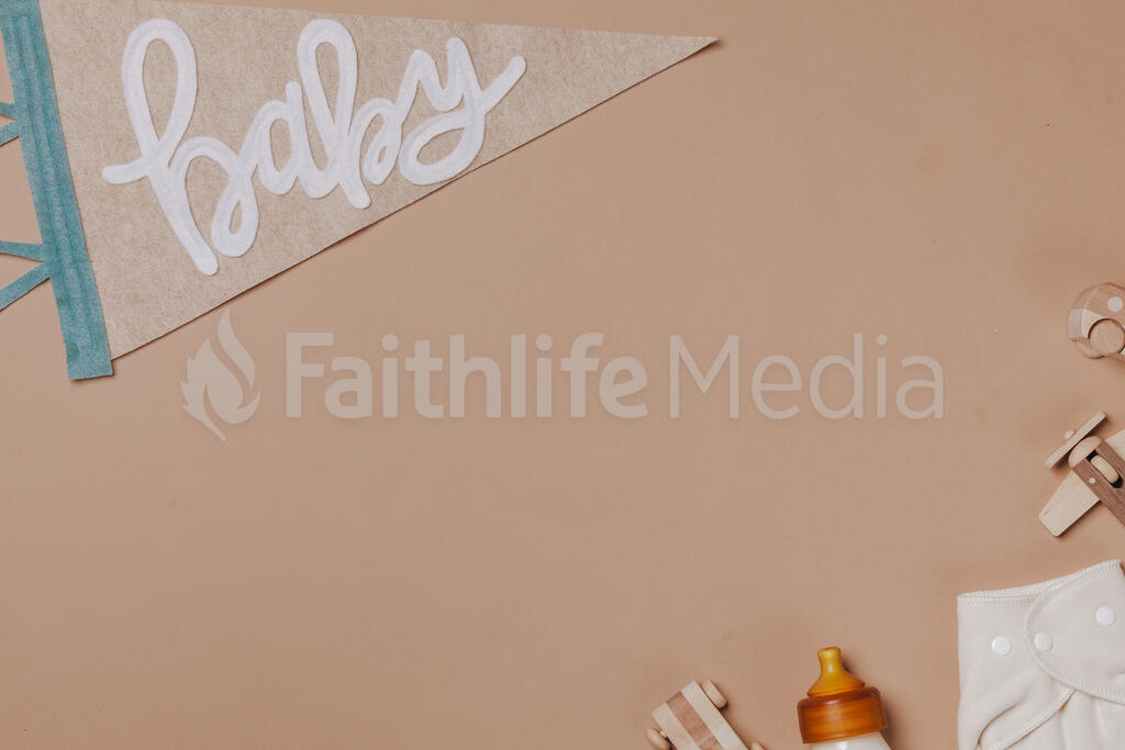 Baby Pennant Flag with Baby Items large preview