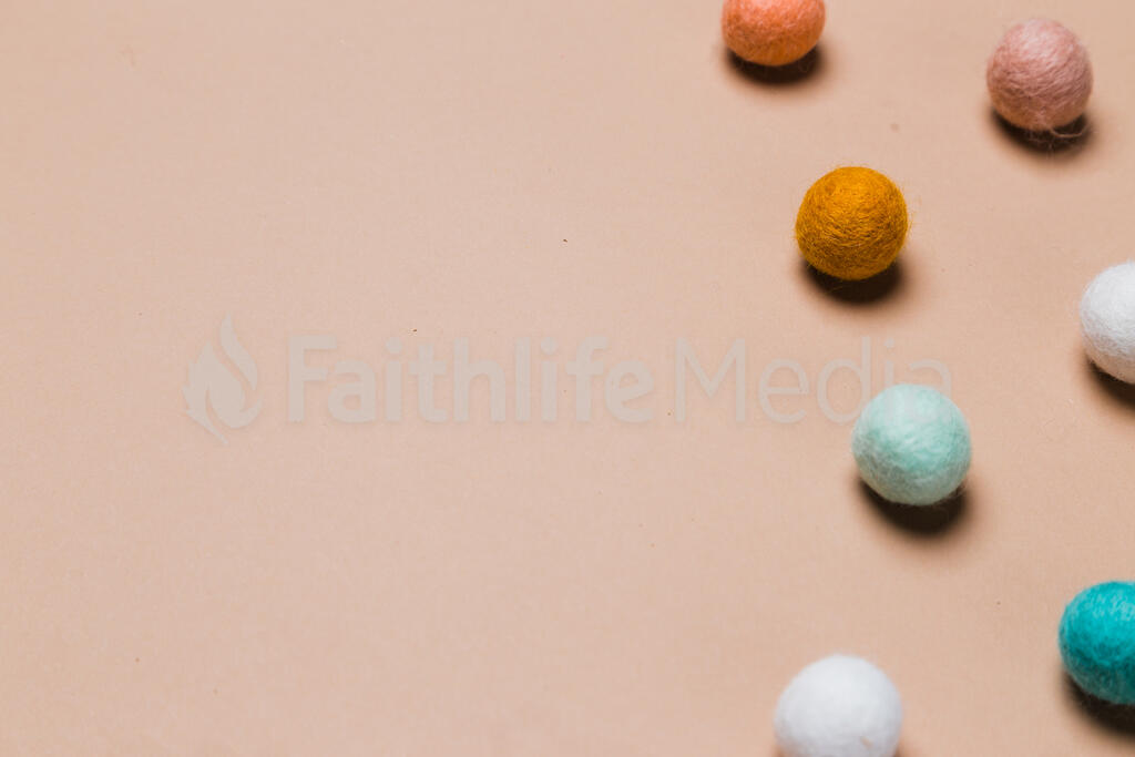 Baby Bottle Surrounded by Felt Polka-Dots large preview