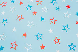 Red White and Blue Paper Stars  image 15