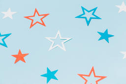 Red White and Blue Paper Stars  image 7