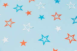Red White and Blue Paper Stars  image 16