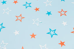 Red White and Blue Paper Stars  image 13