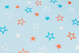 Red White and Blue Paper Stars  image 2