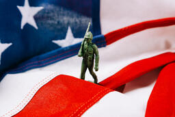 Toy Soldier Marching on an American Flag  image 3