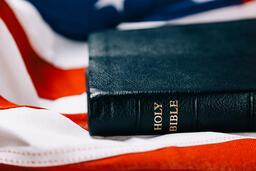 Bible on an American Flag  image 2