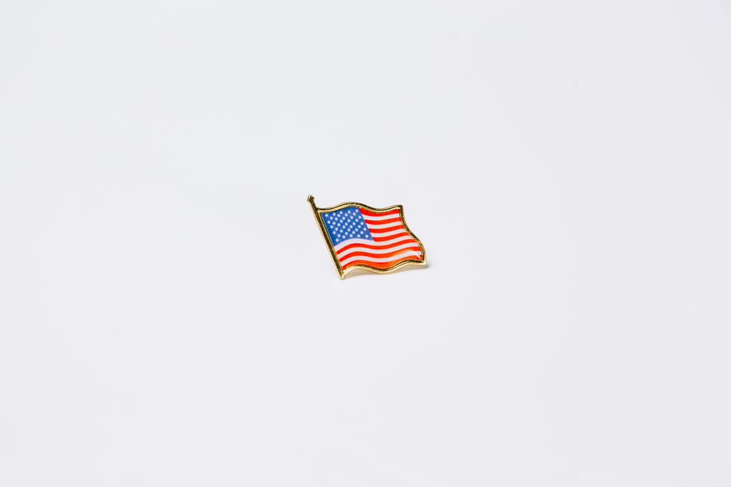 American Flag Enamel Pin large preview