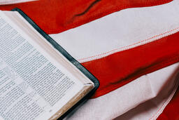 Open Bible on an American Flag  image 10