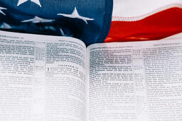 Open Bible on an American Flag  image 5