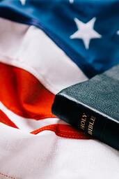 Bible on an American Flag  image 3