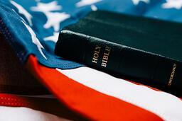 Bible on an American Flag  image 5